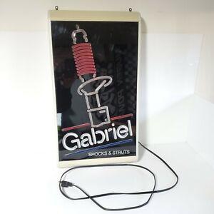 Rare Vintage Gabriel Shocks & Struts Light Up Dealer Shop Sign USA