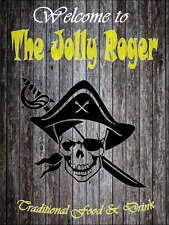 Jolly Rogers bar sign pub retro mancave man gift fathers day free postage