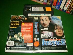 FLIGHT FROM JUSTICE (1993) - RARE Roadshow VHS - under the radar Lost Thriller!