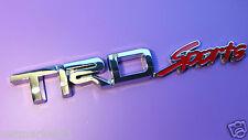TRD SPORTS Badge Emblem Sticker ABS Silver 3D Logo Toyota Corolla Yaris Avensis