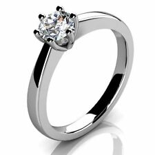 Platinum Solitaire Excellent Cut Round Fine Diamond Rings