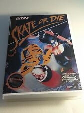 SKATE OR DIE 1 NINTENDO NES EXMT W MANUAL & CUSTOM CASE!