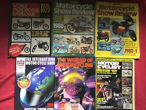 MOTORCYCLE SHOW MAGAZINES AND CATALOGUES - 6 FROM 1976 to 1999