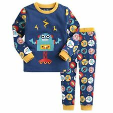 "Vaenait Baby Infant Toddler Kids Boys Clothes Pajama Set ""Mega Robot Blue"" L"