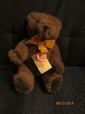 Adorable Vintage Hermann Dark Brown Mohair Bear