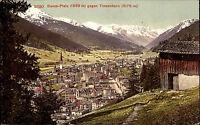Davos-Platz Schweiz Graubünden ~1910 Tinzenhorn Berge Alpen Alpenkette Kirche