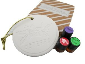 doTERRA Dolomite Ornament Diffuser with 1mL SAMPLES Holiday Joy, Peace, Advent
