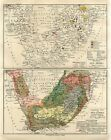 1895 SOUTH AFRICA GEOLOGICAL MINERALS Antique Map