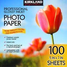 "Kirkland Signature 5"" X 7"" Professional Glossy Photo Paper 100 sheets Ct NEW"