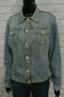 GUESS Giubbino Donna Taglia XL Jeans Giacca Jacket Giubbotto Cotone Denim Blu