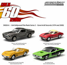 """Set of 4: Greenlight Hollywood Film Reels """"Gone in 60 sec."""" 1:64 Scale"""