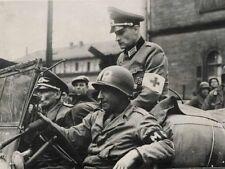 WWII Photo German Officers Captured US Army MP  WW2 B&W World War Two / 2241
