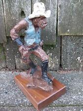 Austin Prod-Inc 1973 Western Sheriff Cowboy Old West Art Figure Sculpture Statue