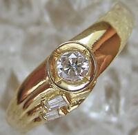 Like☻ 0,20 ct. Brillant Ring in aus 14kt 585 Gold mit Diamant Brillanten Diamond