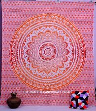 Indian Ombre Mandala Print Bedcover Hippie Queen Tapestry Bohemian Wall Hanging