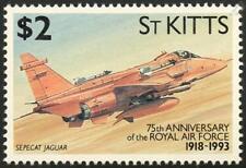 RAF SEPECAT JAGUAR Attack Aircraft Stamp (1993 St Kitts)