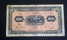 1942 Guadeloupe 100 Francs Banknote