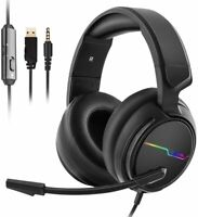 Gamer Auriculares Audifonos Gaming Para PC Xbox One 360 PS4 PS3 LUZ LED Nuevo