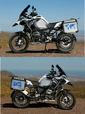 "BMW GS ""ONE WORLD KIT"" LIGHT BLUE / AZZURRO STICKERS / ADESIVI - THE1200STICKERS"