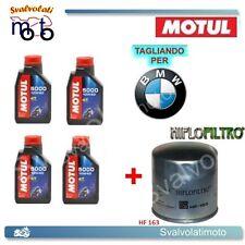 TAGLIANDO FILTRO OLIO + 4LT MOTUL 5000 10W40 BMW R-1150 GS 1999 2000 2001 2002