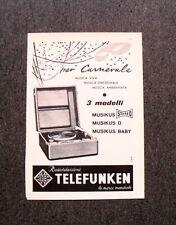 M137- Advertising Pubblicità -1960- TELEFUNKEN MUSIKUS STEREO