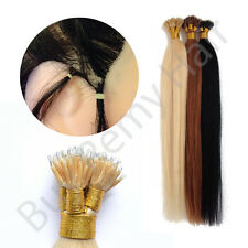 """20"""" Nano Tip Remy Hair Extensions bonded 1 Gram Strands For Use With Nano rings"""