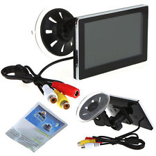 "4.3"" Color TFT LCD Car Rearview Monitor for DVD Camera VCR Super Slim"