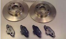 FIAT 500 1.2 8v 8 VALVE (2007-) FRONT BRAKE DISCS and BRAKE PADS SET + SENSOR
