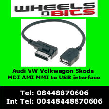 Vw medios Usb Flash Drive Cable Scirocco Golf Polo Rcd 310 510 Adaptador de interfaz