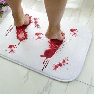 Bloody Footprint Bathroom Mat Non-slip Blood Bathmat Pads Home Decoration Modern