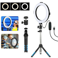 LED Ring Light Selfie Camera Lamp With Tripod Stand For Phone YouTube Video Live