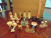 Vintage Lot of 10 Salt and Pepper Shaker sets +5 singles mostly Japan