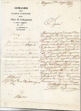Y632-SICILIA-RIVOLUZIONE 1848/49-COMANDO GUARDIA NAZIONALE DI CALTAGIRONE