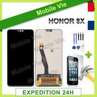 VITRE TACTILE + ECRAN LCD PRET-A-MONTER POUR HUAWEI HONOR 8X NOIR + OUTILS/COLLE