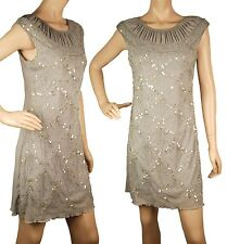 ConMiGo London CC410 embellished with crystals and beads Jersey dress - Grey
