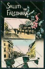 Ancona Falconara Saluti da Stazione Foto cartolina QQ1130