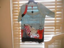 NWT Aventures des Toiles France ~ Art to Wear ~ Edouard Buzon Tunic Tee ~ 48