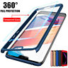 360° Full Cover Case + Tempered Glass For Huawei Y5 Y6 Y7 Pro Y9 2018 / 2019
