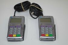 Lot of 2 Verifone Vx805 Ctls With Cables Powered On As Is