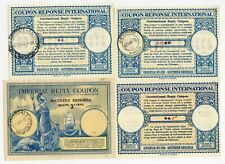 SOUTHERN RHODESIA REPLY PAID COUPONS IRCs IMPERIAL BRITANNIA SHIP.. 4 DIFF RATES
