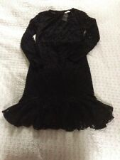 BNWT ABERCROMBIE& FITCH Black Party Lace Bottom Flare Dress-size 10.