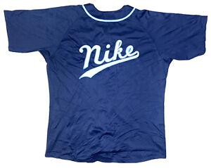 Vintage Button Up Nike Baseball Jersey Majestic Guernsey Size XL