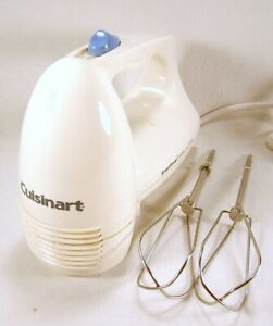 CUISINART SmartPower 3-Speed Electronic Hand Mixer WHITE w/Beaters MODEL HTM-3
