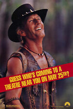CROCODILE DUNDEE II (1988) ORIGINAL MINI 16 X 24 ADVANCE MOVIE POSTER -  ROLLED