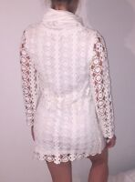 Uscari white knitted long sleeve winter dress Size AU 10 US 6