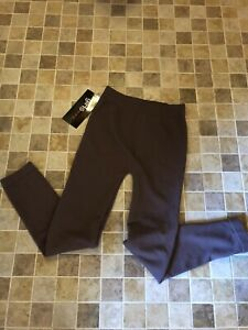 Girls Size 7 To 10 Polyester Spandex Fleece Lined Tights Brown