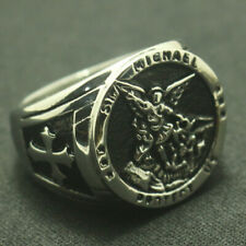Michael P 00006000 rotect Us Cross Shield Orthodox Silver Or Golden Archangel Ring Saint