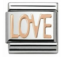 LOVE Genuine Nomination Classic Italian Charm Link - 9ct ROSE GOLD - I My you