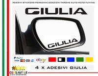 ADESIVO STICKER PER SPECCHIETTO RETROVISORE ALFAROMEO STELVIO GIULIA GIULIETTA 4