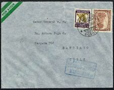 1514 COLOMBIA TO CHILE AIR MAIL COVER 1937 BOGOTA - SANTIAGO